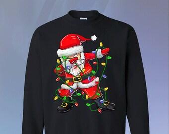Durch den Schnee Weihnachten Pullover Hoodie Dab Hoodie Tupfen Santa Damen Mens Hoodies Weihnachten Partei Outfit lustige Geschenke #Dab dabbin