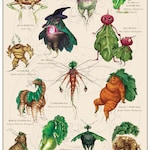 Root People | Art Print of original watercolor illustration for kitchen witches, veggie lovers, gardeners, and botanists