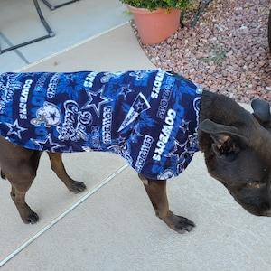 Easy on and Off ~ Fleece Pet Jacket ~ Dog or Cat Coat ~ Outerwear ~ Arizona Cardinals Fan Gear Jacket ~ Football Sports Team
