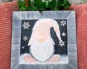 READY TO SHIP Chalk Art Nordic Gnome Chalkboard Decor Sign Christmas Gnomes Winter Decoration Holiday Decorating Gnome Gift Art Plaque Gifts