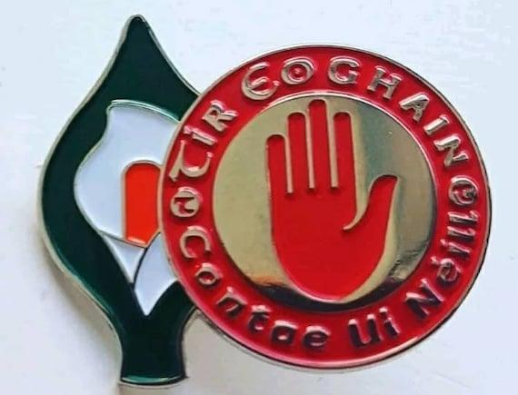 Irish Republican Rising  EASTER 1916 RISING Easter Lily Enamel Pin Badge