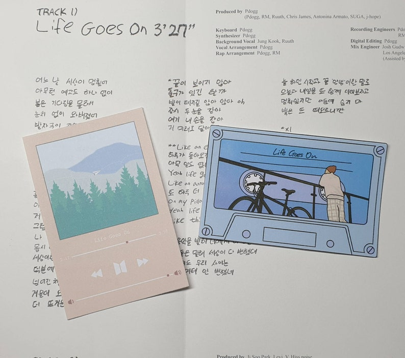 Matte Stickers inspired by BTS Life Goes On