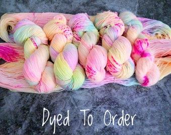 Unicorn Candy Hand Dyed Yarn - Superwash Merino Wool 100g Skein