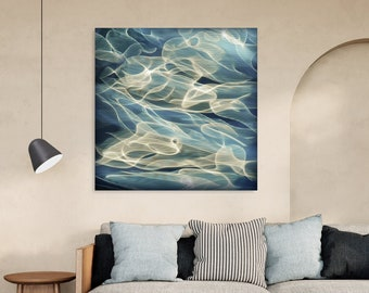 """Water Abstract """"H2O #61"""" - art print on canvas, different sizes"""