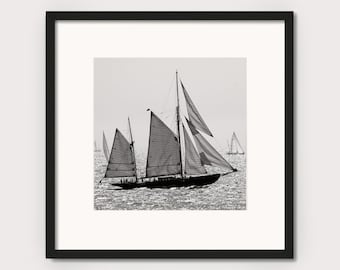 """Sailing ship """"SAILBOAT III"""" - photo print unframed or canvas print, different sizes"""