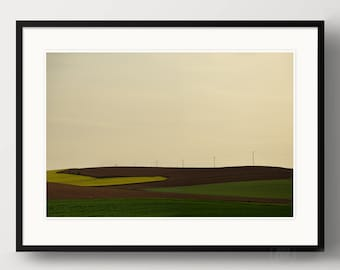 """Art photography """"LAND ART"""" - photo print unframed or canvas print, different sizes"""