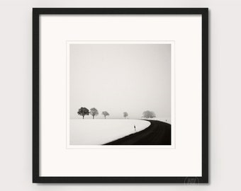 """Art photography """"RURAL WINTER.."""" - photo print unframed or canvas print, different sizes"""