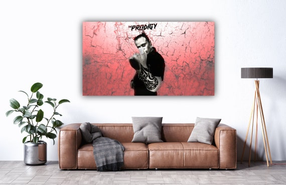 STUDIO 56x30cm THE PRODIGY AWESOME KEITH FLINT ICONIC CANVAS ART PRINT PICTURE