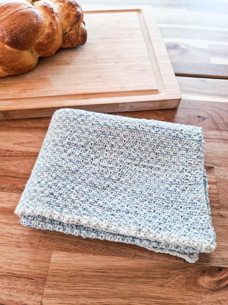 Knit Pattern  Linen stitch kitchen dish towel  Cottage Tea image 0