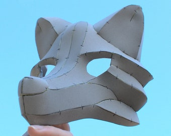 Wolf / Fox Masquerade Mask Foam Digital Pattern   For Parties, Balls, Costumes, Cosplays