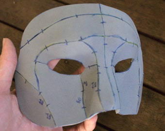 Masquerade Full Face Mask Foam Digital Pattern   For Parties, Balls, Costumes, Cosplays