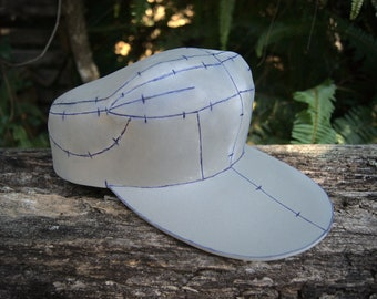 Anime / Video Game Inspired Cap Foam Digital Pattern   For Cosplays, Costumes, Parties