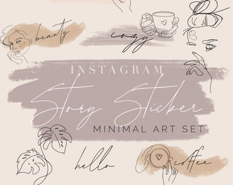 Instagram Story Sticker by laurralucie Minimal Art Set