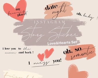 Instagram Story Sticker by laurralucie Love&Hearts