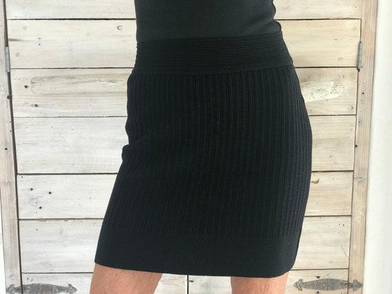 Alaia wool stretch pencil skirt