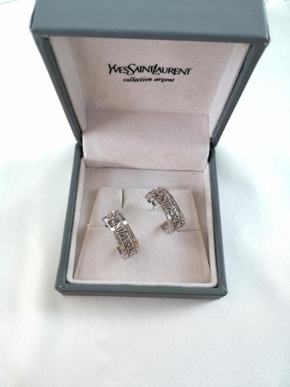 Yves Saint Laurent Silver Collection vintage earri