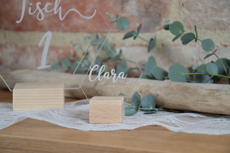 Acryl Platzkarten Hochzeit