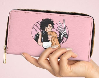 Edward Scissorhands Wallet, 80s vintage pastel wallet, retro barbie wallet