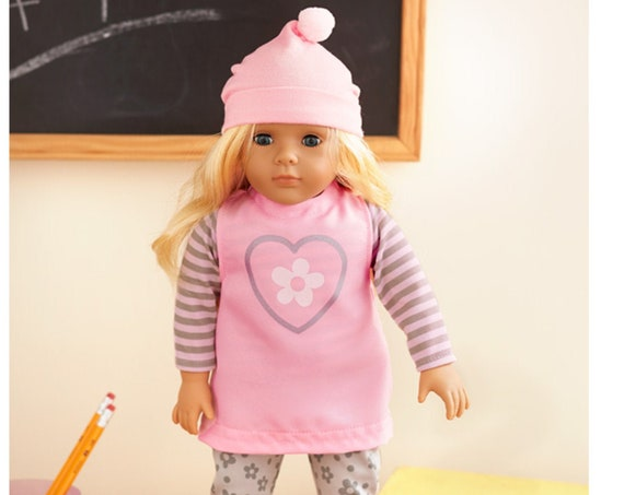 """18"""" Doll- Blonde- Cloths as pictured included. Free Doll  Standwith purchase"""