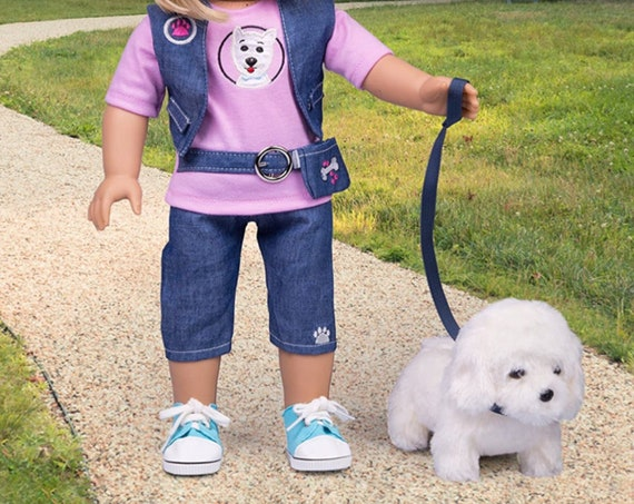 """Dog Walker Doll Outfit for American Girl & 18"""" Dolls (7 Piece Set) -"""