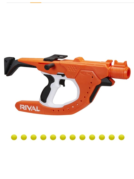 NERF Rival Curve Shot -- Sideswipe XXI-1200 Blaster -- Fire Rounds to Curve Left, Right, Downward or Fire Straight -- 12 Rival Rounds