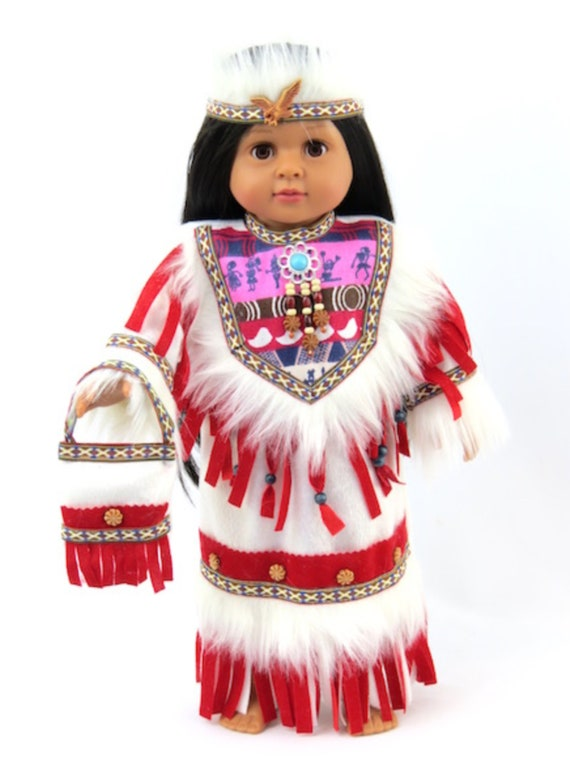 Red Native American Outfit with Purse #682 only 51