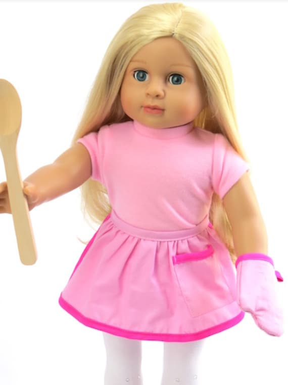 """3 piece Doll Apron For 18"""" Dolls For 18"""" Dolls"""