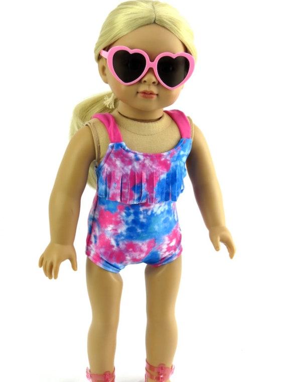 """Tie-dye Bathing Suit #490- For 18"""" Dolls"""
