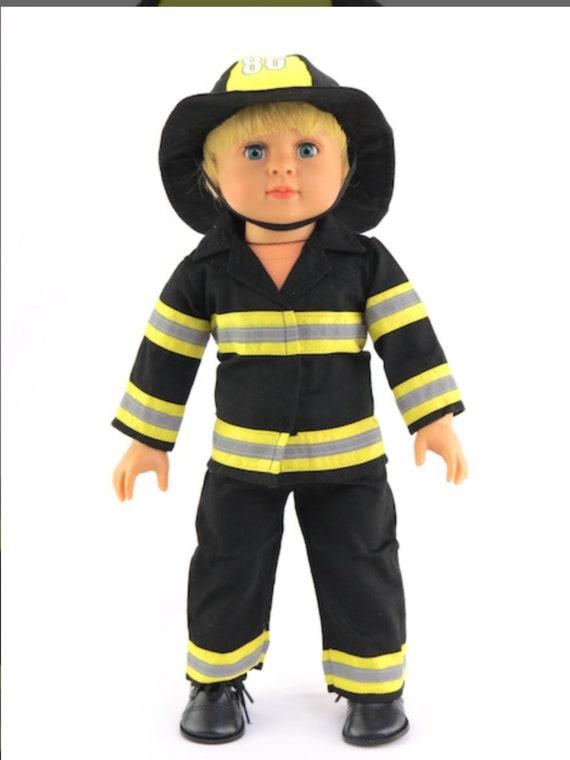 "Fire Fighter Fireman Costume 84/1121- Fits 18"" Dolls"