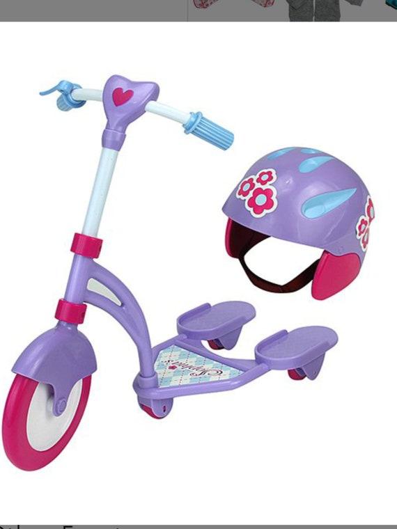 Mini Scooter & Helmet for 18'' Doll