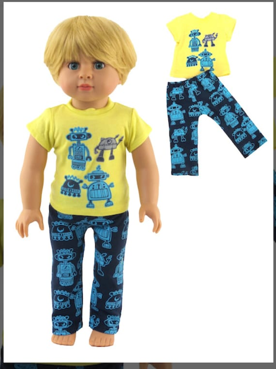 "Robot Pajamas #90- Fits 18"" Dolls"