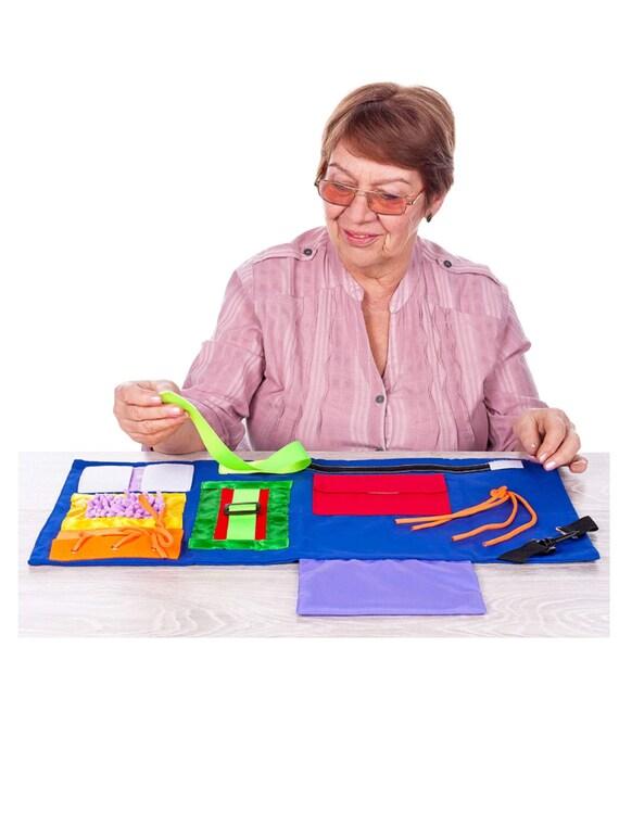 Fidget Blanket | Calming & Comforting Activities for Adults with Dementia | Sensory Blanket | Dementia Products for Elderly |