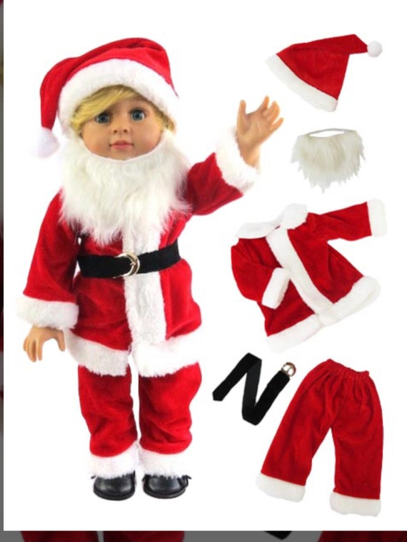 """Mr.Claus Doll Outfit with Beard #566-For 18"""" Dolls"""