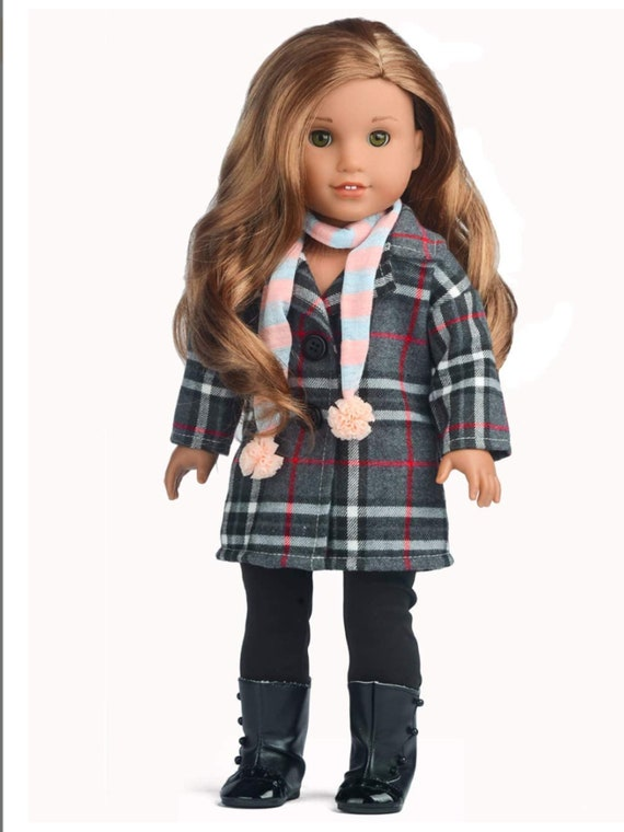 Sweet Dolly Winter Doll Clothes Gery Coat Outfits for 18 inch American Girl Doll