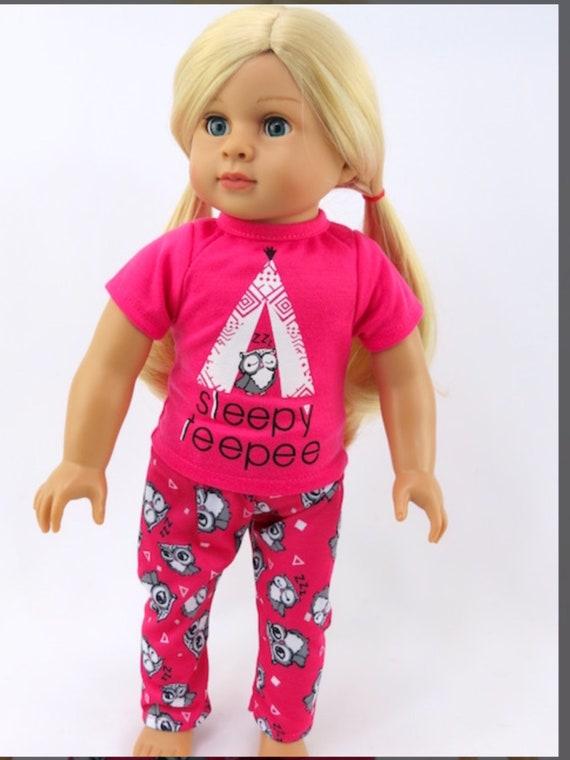 """Sleepy Teepee Pajamas #25- Fits 18"""" Doll"""