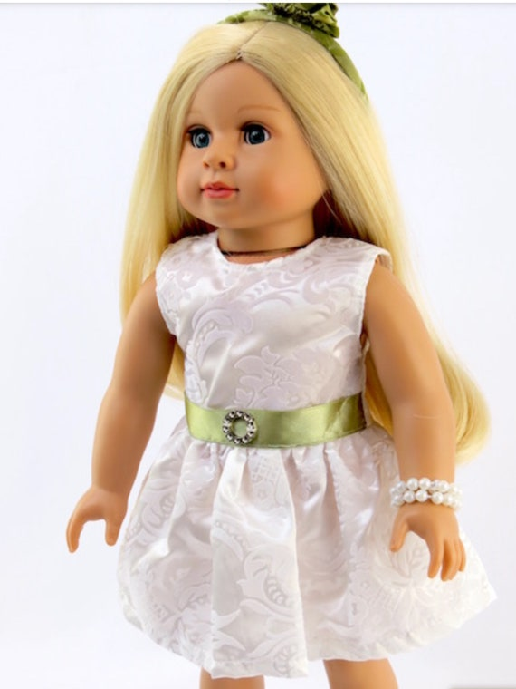 """Paisley Dress with Matching Accessories 18"""" Doll  #309"""