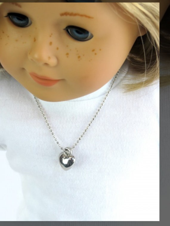"""Heart Necklace for 18"""" Doll"""