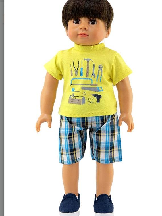 Boy's Handy Man Short Set Made for 18 inch Dolls Such as American Girl Dolls