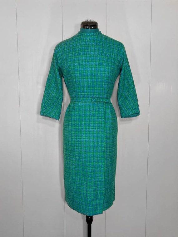 1950s 1960s Vintage Wiggle Dress by Jonathan Logan