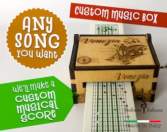 Hand Crank Paper Strip Wooden Music Box Scorpions Wind Of Change
