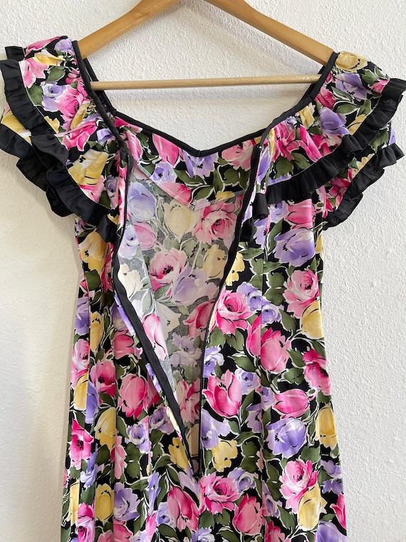Gunne Sax inspired hawaiian maxi dress - image 2