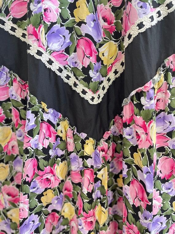 Gunne Sax inspired hawaiian maxi dress - image 5