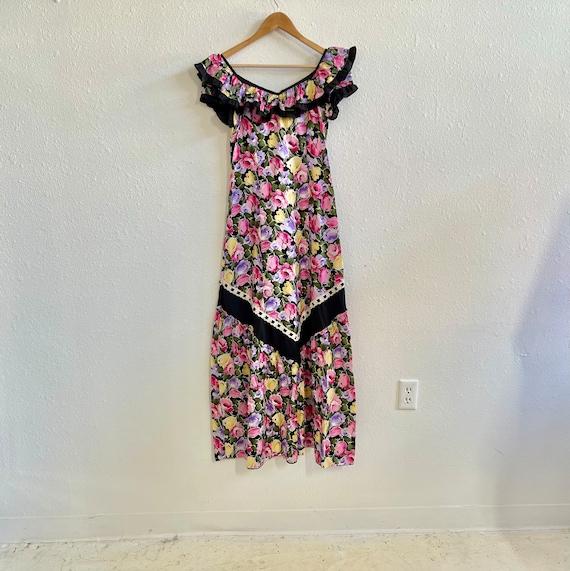 Gunne Sax inspired hawaiian maxi dress - image 1