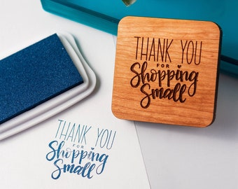 Packaging Tools Small Business Accessories Rubber Stamp Paper Crafts Custom Stamp Thank You for Shopping Small Stamp