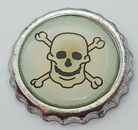 PUNK - corpse head, punk pin, punk badge Bottle Ca