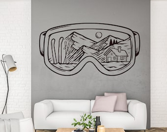 S506 Mountains Switzerland Snow Smashed Wall Decal 3D Art Stickers Vinyl Room