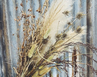 Wild Grass Bouquet - Dried Floral Arrangement
