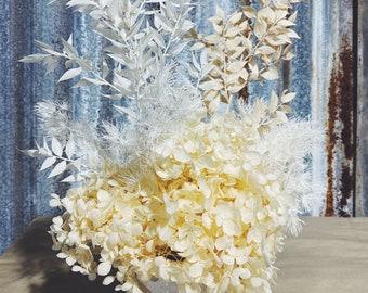 Peaches & Cream - Dried Floral Arrangement