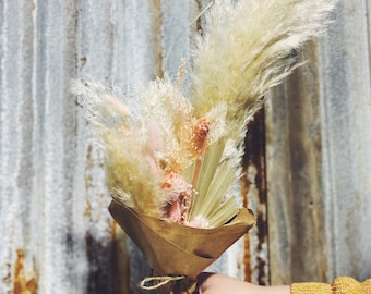 Pale Pink Posey - Dried Floral Arrangement