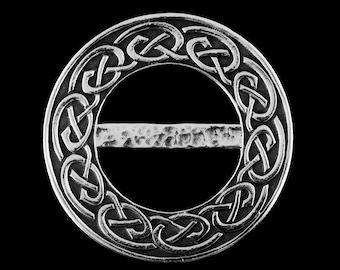 Pewter scarf ring (M)  - Nouveau Celtic Knot